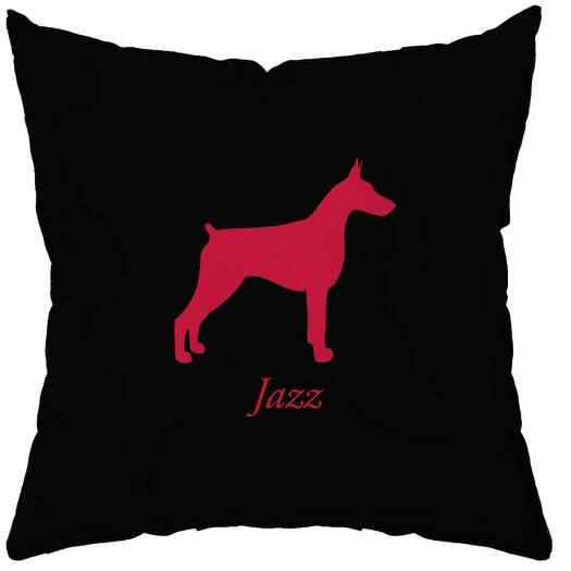 Checkerboard, Ltd Personalized Doberman Throw Pillow