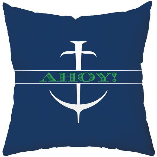 Checkerboard, Ltd Ahoy Throw Pillow