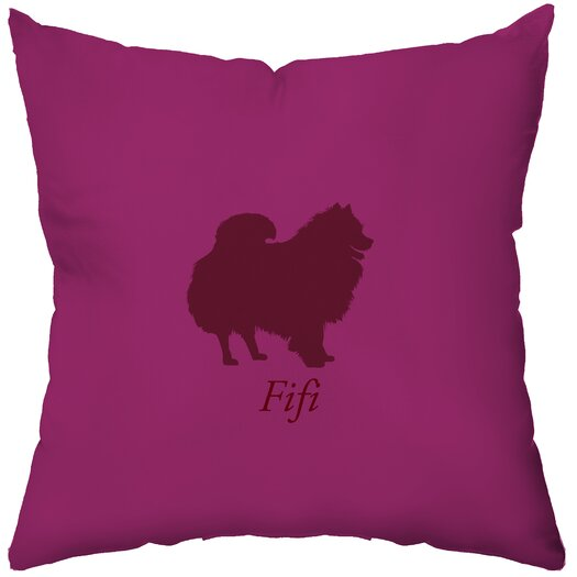 Checkerboard, Ltd Personalized Pomeranian Throw Pillow
