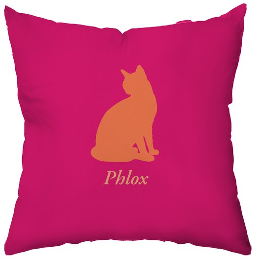 Checkerboard, Ltd Personalized Cat's Pajamas Throw Pillow