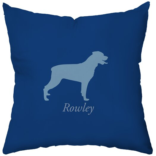 Checkerboard, Ltd Personalized Rottweiler Throw Pillow