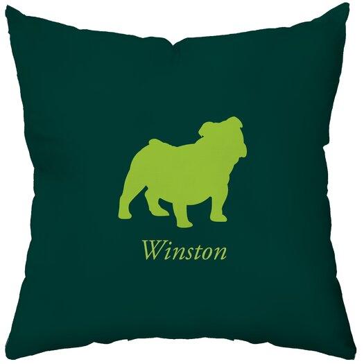 Checkerboard, Ltd Personalized Bulldog Throw Pillow