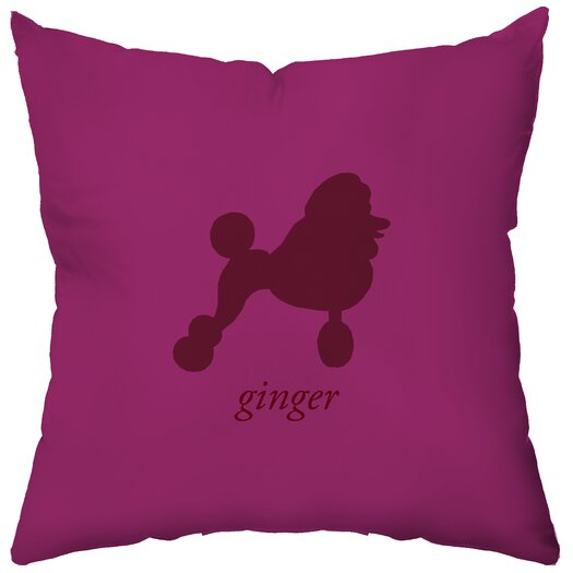 Checkerboard, Ltd Personalized Poodle Throw Pillow