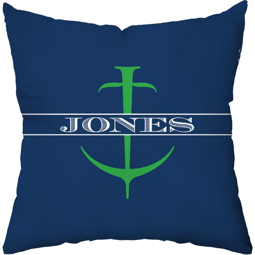 Checkerboard, Ltd Personalized Anchor Throw Pillow