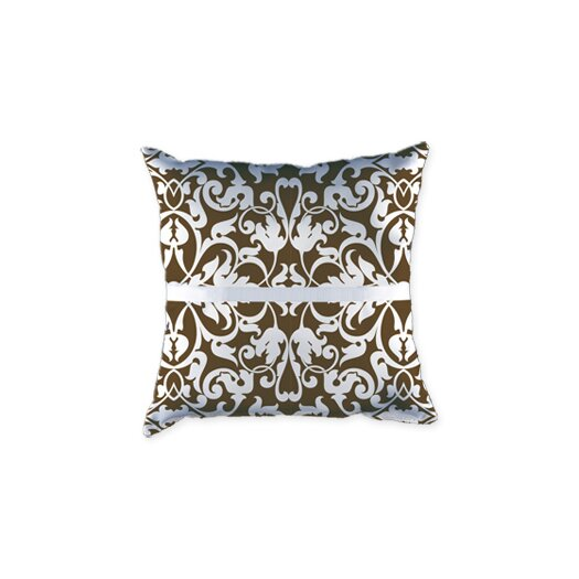 Checkerboard, Ltd Personalized Harmony Ring Satin Throw Pillow