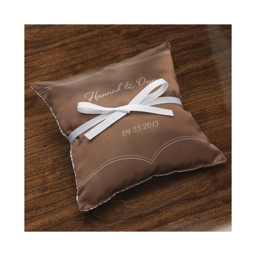 Checkerboard, Ltd Personalized Dianthus Ring Satin Throw Pillow