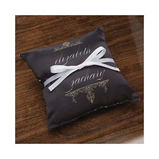 Checkerboard, Ltd Personalized Alchemy Ring Satin Throw Pillow