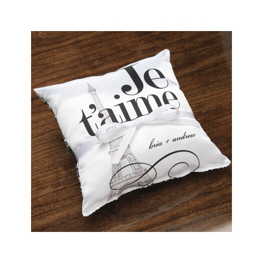 Checkerboard, Ltd Personalized Vignette Ring Satin Throw Pillow