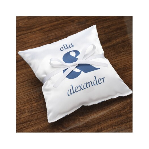 Checkerboard, Ltd Personalized Synergy Ring Satin Throw Pillow