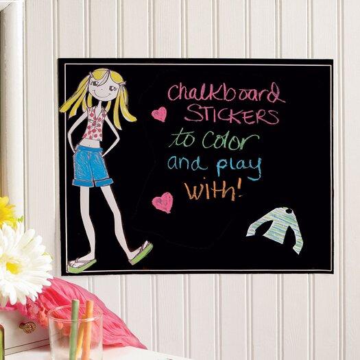 Ruby Dress-Up Chalkboard Wall Decal
