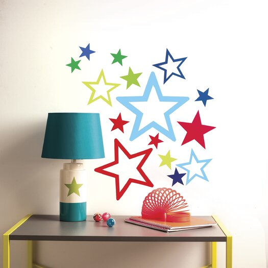 Wallies Peel and Stick Stars in Stars Wall Decal