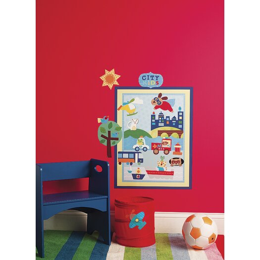 Wallies Peel and Stick About Town Wall Decal