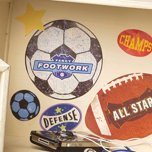 Wallies Sports Stamps Wall Decal