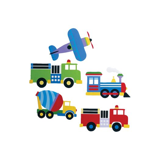 Wallies Kids Trains, Planes and Trucks Wall Decal