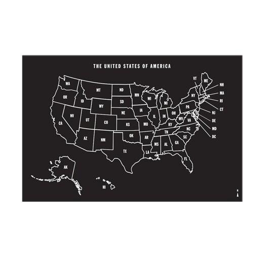 U.S Map Chalkboard Wall Decal