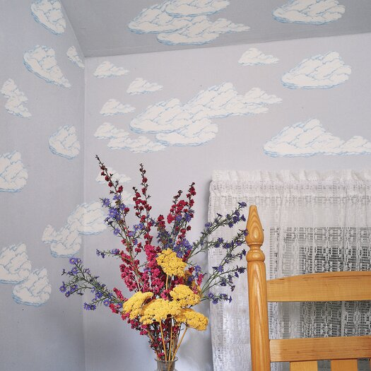 Large Clouds Wallpaper Cutout Wall Decal