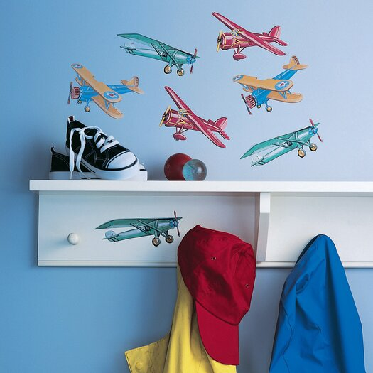 Wallies Vintage Airplanes Wall Decal