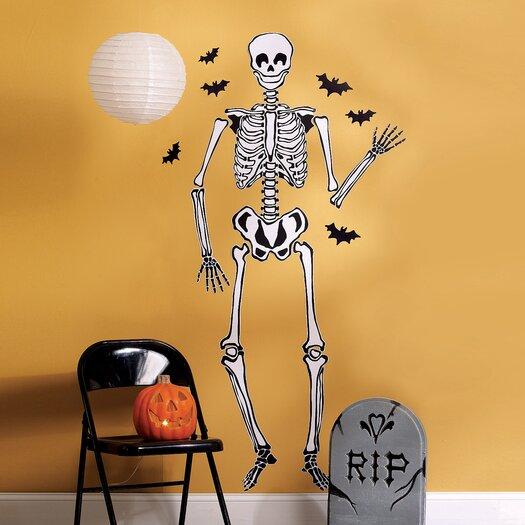 Wallies Skeleton Holiday Wall Decal