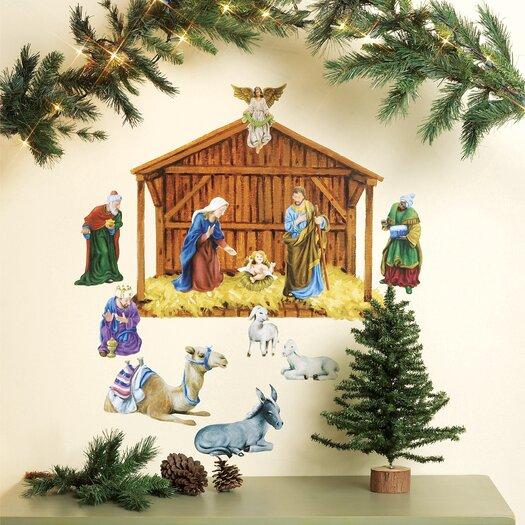 Wallies Nativity Holiday Wall Decal