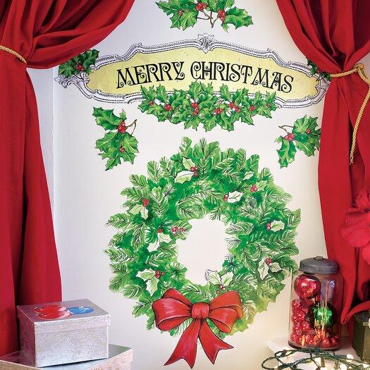 Wallies Merry Christmas Holiday Wall Decal