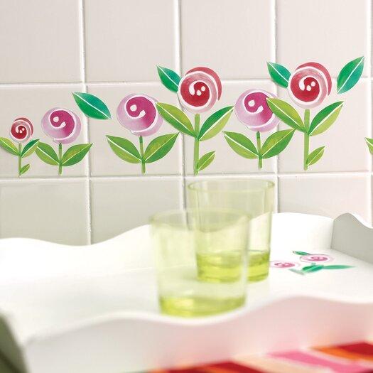 Wallies Lollipop Flowers Wall Decal