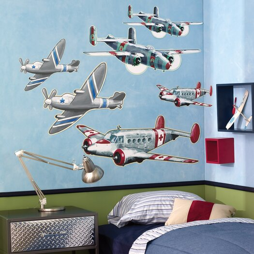 Wallies Airplanes Wall Decal