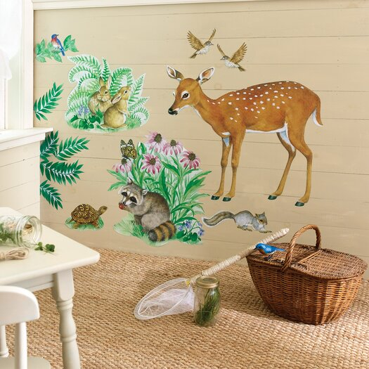 Wallies Woodland Animals Wall Decal