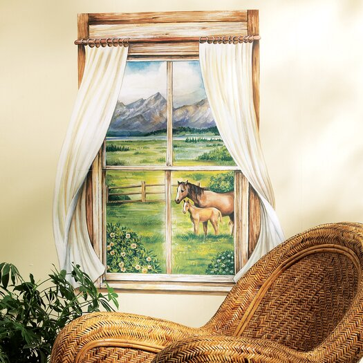 Wallies Grazing Pastures Window Wall Mural