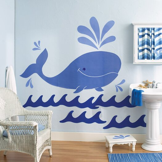 Whimsical Whale Wall Decal