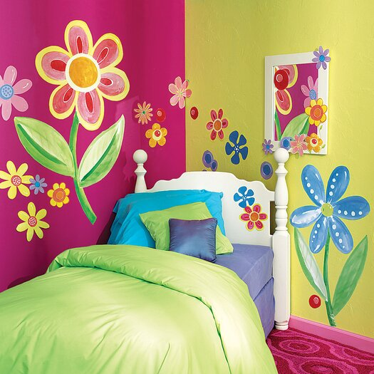 Wallies Big Flowers Wall Decal