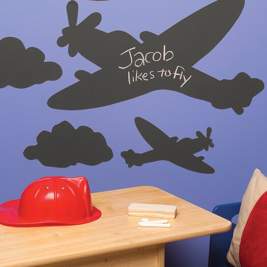Wallies Planes and Clouds Chalkboard Wall Decal