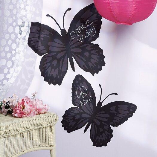 Wallies Butterfly 2 Piece Chalkboard Wall Decal Set