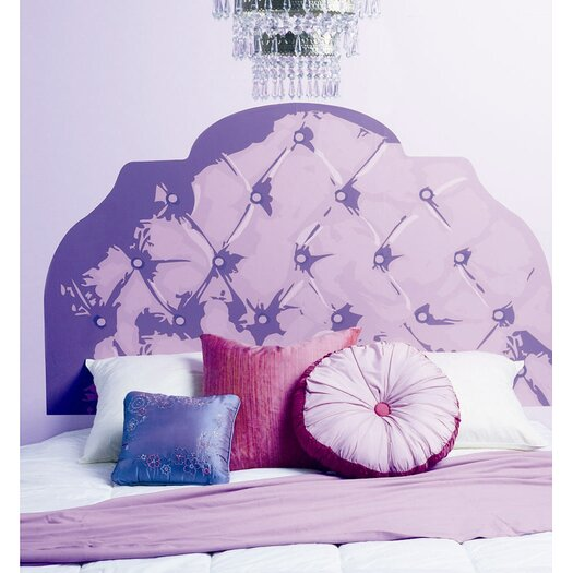 Wallies tufted headboard wall mural allmodern for Mural headboard