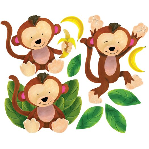 Baby Monkeys Wall Decal