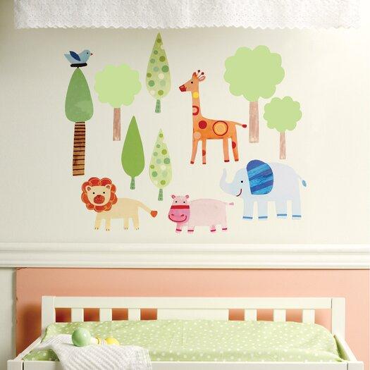 Wallies Zoo Baby Wall Decal
