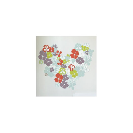 XXL Flowers in Love Wall Decal