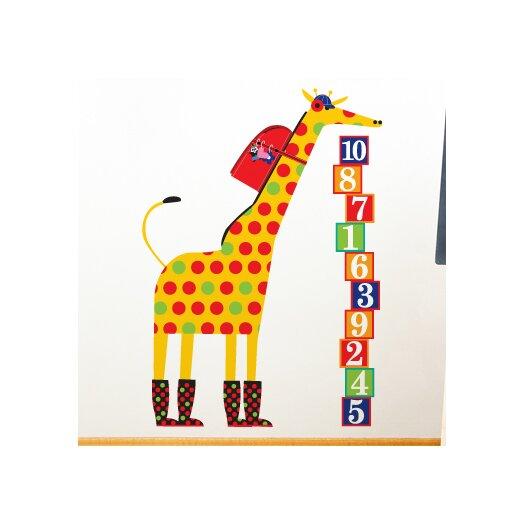 Piccolo Schooltime Giraffe Wall Decal