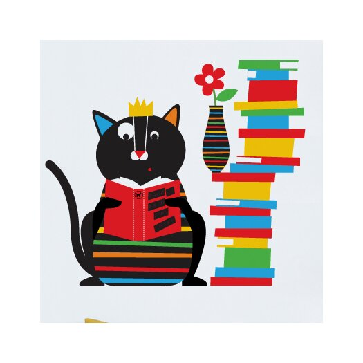 ADZif Piccolo Smarty Cat Wall Decal