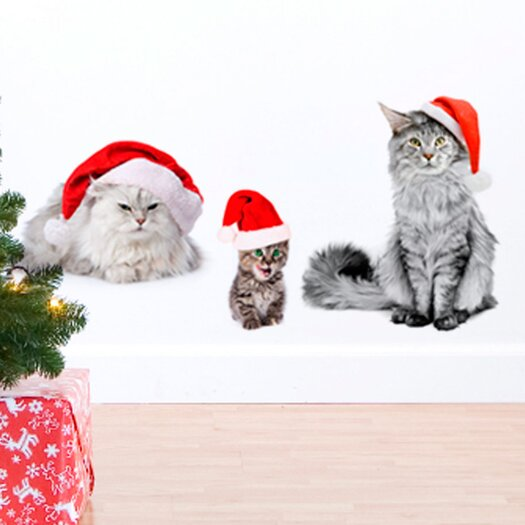 Christmas 2013 Cats Wall Decal