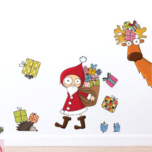 Christmas 2013 Santa Claus Wall Decal