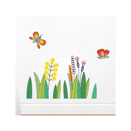 ADZif Ludo Butterflies in the Grass Wall Decal