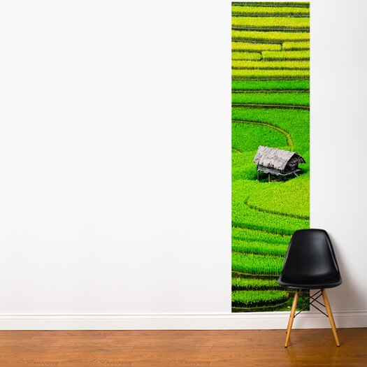 Fresk Rice Field Wall Mural