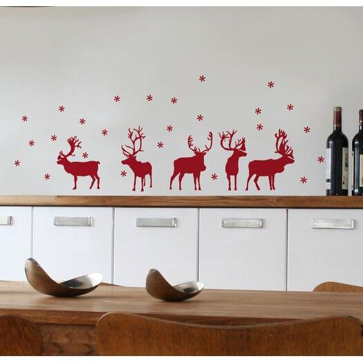 Mia & Co Reindeers Wall Decal