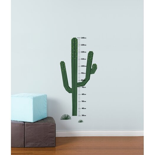 Piccolo Cactus Height Gauge Wall Decal