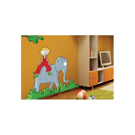 ADZif Ludo on the Elephant Wall Decal