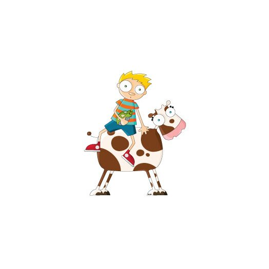 ADZif Ludo Cow Boy Wall Decal