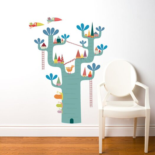 ADZif Piccolo Village in The Tree Wall Decal