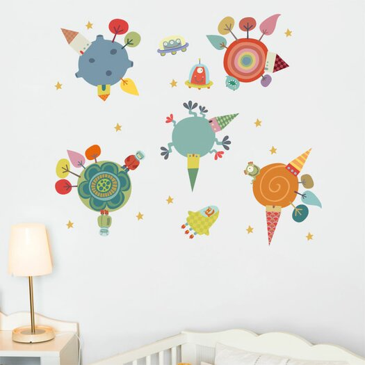ADZif Piccolo Planets Wall Decal
