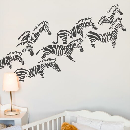 ADZif Piccolo Herd of Zebras Wall Decal