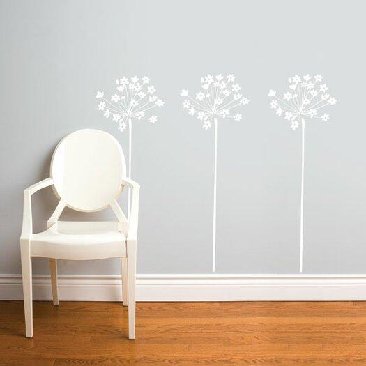 ADZif Spot Fire-Flowers Wall Decal